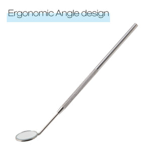 zwellbe Stainless Steel Checking Mirror For Eyelash Extension 1PC Portable Dental Mirrors Mouth Tooth Professional Makeup Tool