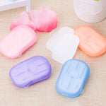 20PCS/Box Disinfecting Soap Paper Washing Hand Bath Hand Clean Disposable Boxed Soap Portable Mini Paper Soap Random Color TSLM2