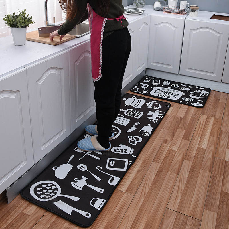 Anti-slip Kitchen Mat Set  Foot Relax Pad Entrance Doormat Muslim Prayer Area Rugs Tableware Home Carpet