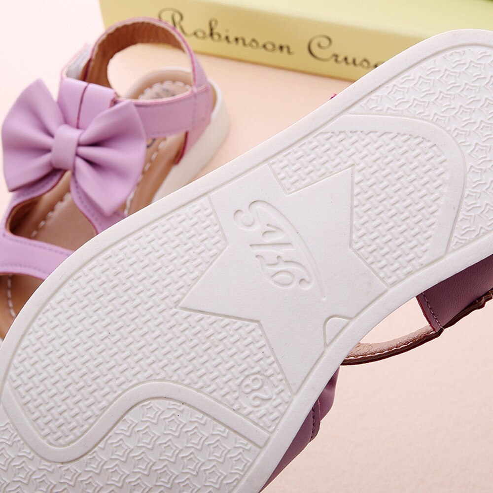 Kids Girl Shoes Sandals Summer Children Sandals Fashion Bowknot Girls Flat Pricness Shoes Zapatos Verano Sandals For Girls