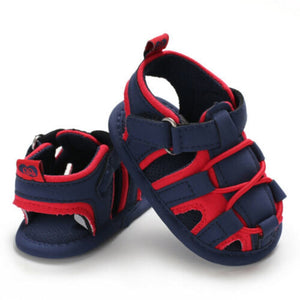Baby Girl Fashion Buckle Strap Shoes Child Baby Patchwork Kid Summer Girl Soft Sole Crib Toddler Boys Sandals Shoes 0-18 Months