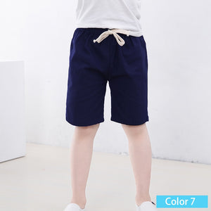 SheeCute New Arrival Summer Girls Shorts Kids Candy Color shorts Boys Casual Cotton Beach Shorts 10Color For 3-11Y SC1104