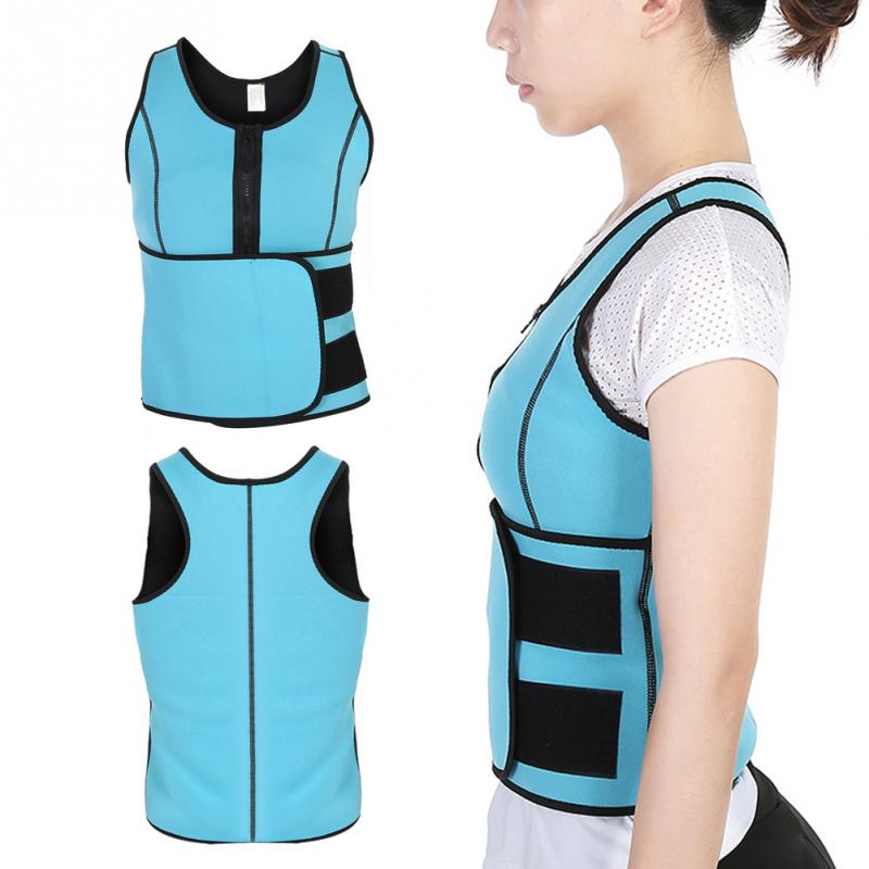 Neoprene Fat Burner Sauna Sweat Corset Waist Trainer Breast Lifting Abdomen Belly Slim Vest Body Shaper Underbust Anti Cellulite