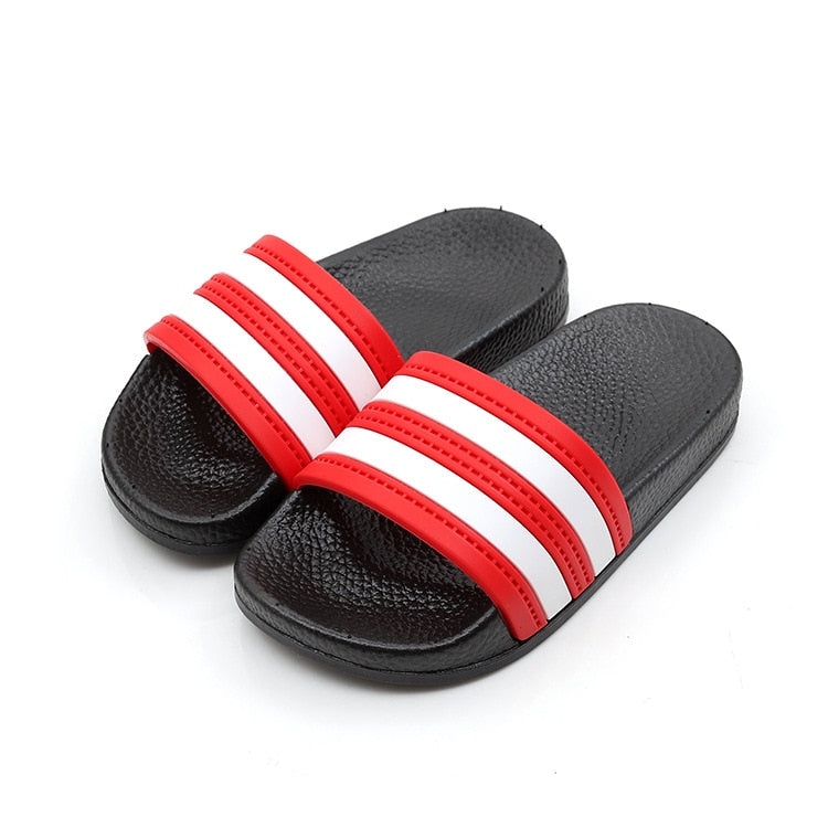 2019 Summer Children Boys Girls Slippers Fashion Striped Shoes Non-slip Children Antiskid Beach Shoes Outdoor Slipper Size 24-35
