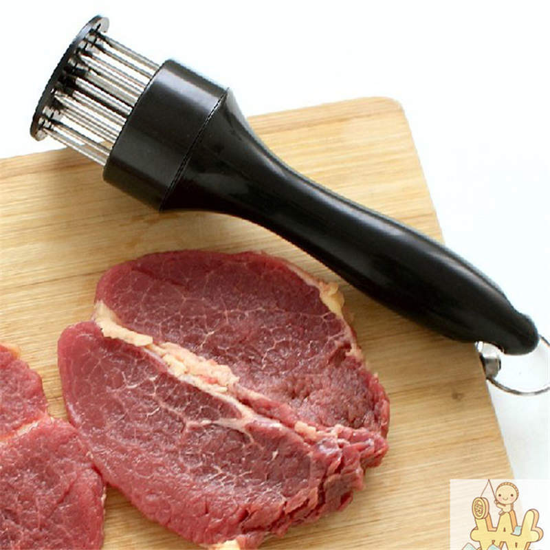 1PC New Qualified Kitchen Tools Profession Meat Meat Tenderizer Needle With Stainless Steel Kitchen Tools Levert Hot 19mar21