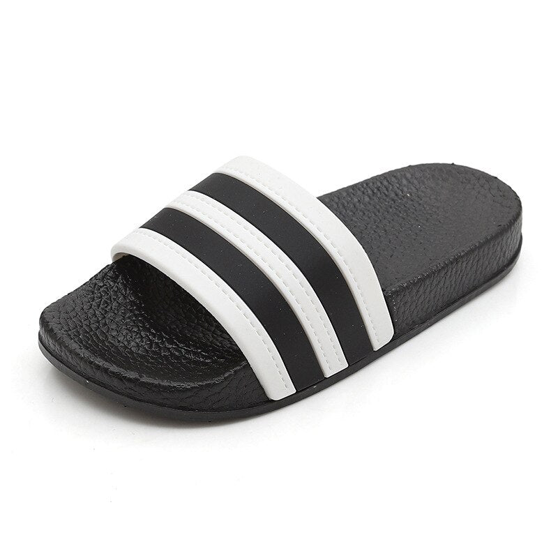 Summer Children Boys Girls Slippers Fashion Striped Shoes Non-slip Children Antiskid Beach Shoes Outdoor Slipper Size 24-35