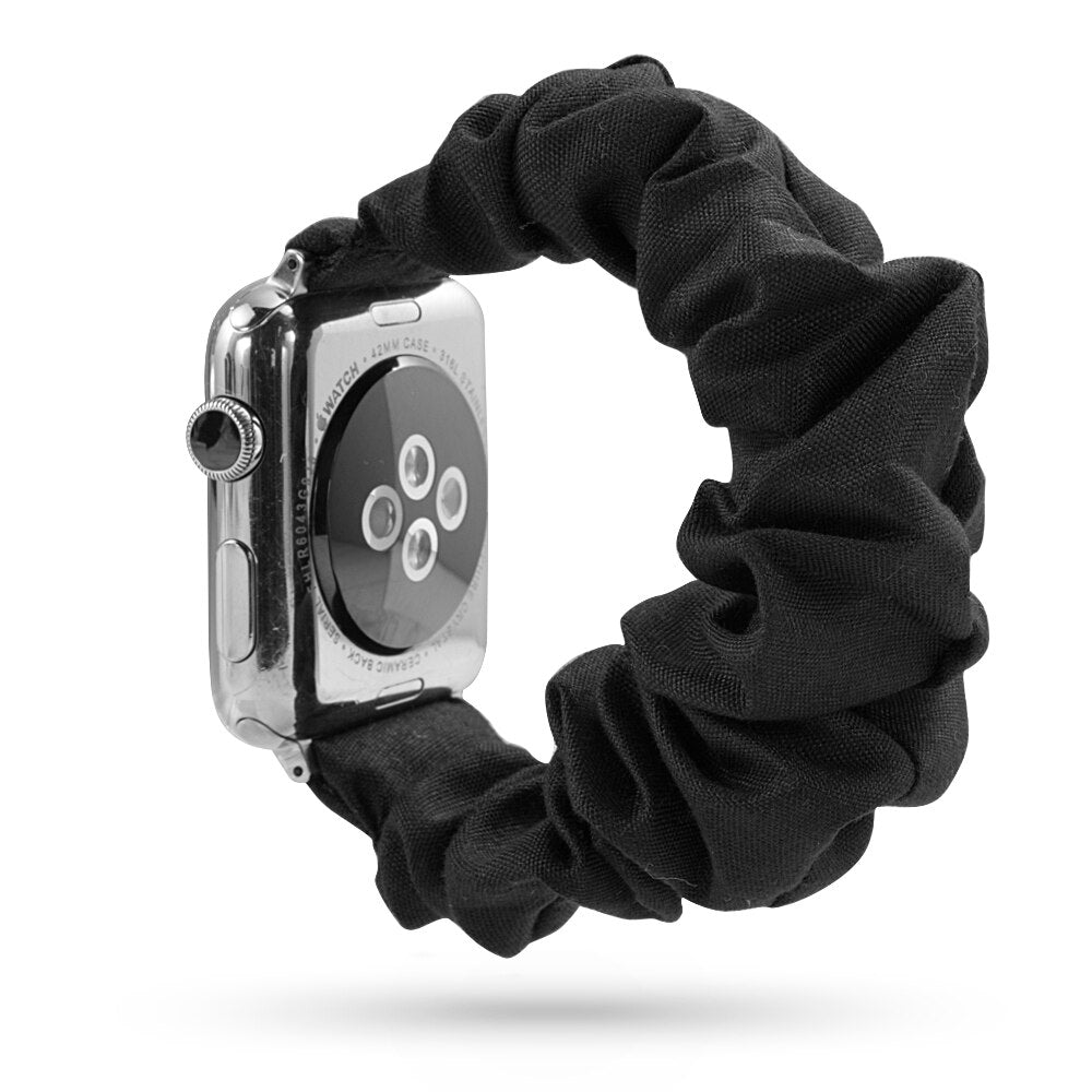 Watch Band for Iwatch Women Scrunchie Elastic Band 38mm/42mm Casual Women Girl Strap Bracelet for Iwatch Apple Watch Accessories