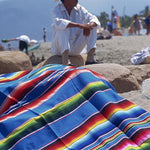 8 colors Ethnic Style Beach Blanket Home Tapestry camping Picnic Travel Plane Mat Cotton Mexican Indian Handmade Rainbow Blanket