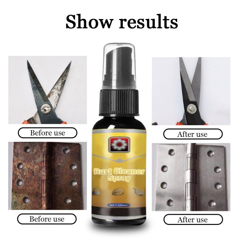30ML Powerful All-Purpose Rust Cleaner Spray Derusting Spray Car Maintenance Household Cleaning Tools Anti-rust Lubricant TSLM2