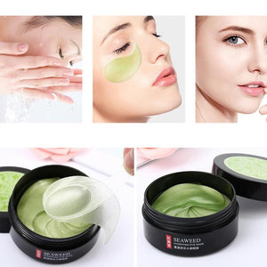60pcs Seaweed Eye Mask Nourishing Moisturizing Hydration Eye Patches Anti-puffiness Remove Dark Dircles Wrinkle Eye Skin Care