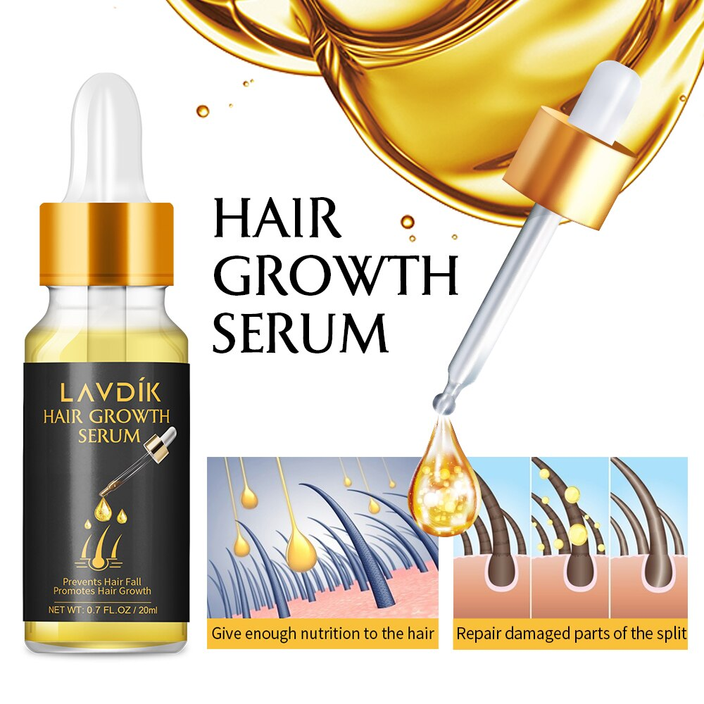 20ML Ginger Fast Growth Hair Serum make hair strength and shining Essential Oil prevent hair loss and damage