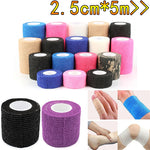 2.5cm*5M Self-Adhesive Elastic Bandage First Aid Medical Health Care Treatment Gauze Tape Emergency Muscle Tape First Aid Tool