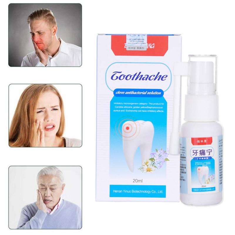 Mint Oral Care Spray Dental Tooth Prevent Toothache Pain Relief Antibacterial Mouth Clean Freshener Herbal Toothache Oral Spray