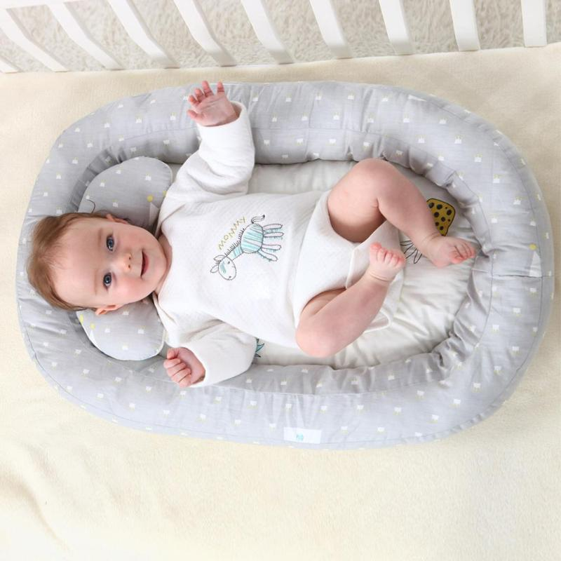 Portable Baby Nest Bed Removable Travel Crib Nursery Infant Sleeping Cotton Toddler Cradle Bassinet Independently Adaptability