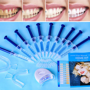 Top Quality Peroxide Teeth Whitening Kit Bleaching System Bright White Smile Teeth Whitening Gel Kit With LED Light Professional