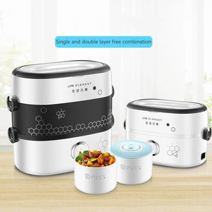 Electric Lunch Box Food Warmer Small Portable Rice Cooker Mini Cooking Appliance Hot Dish Cooking Thermal Cooker Lunch Warmer