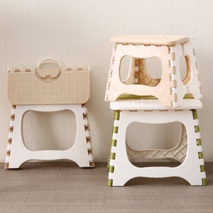 Folding Step Stool Foldable Plastic Portable Small Stool Chair Bench For Children Kids Adults Outdoors Bathroom Travel