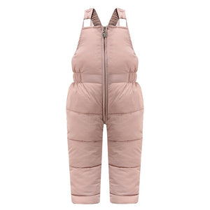 Children winter warm overalls girls & boys winter thick pants cotton filling kids overalls for girls 1-5 years children jumpsuit