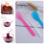 5PCS Colorful Reuseable Mini PET Plastic Face Mask Spoon Cosmetic Mix Spatula Scoop Tools Women Face Skin Care Makeup Sticks