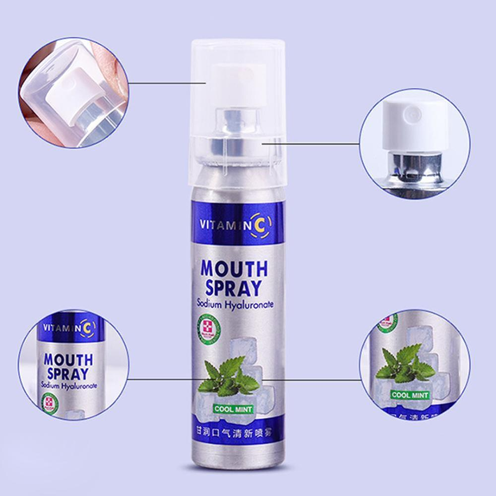 Mouth Freshener Spray Antibacterial Oral Spray Oral Ulcers Toothache Ulcer Pharyngitis Bad Breath Treatment