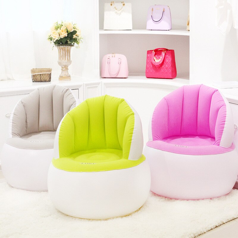 Flocking Inflatable Children's Sofa Foldable Portable Kid's Chair Creative Lazy Couch Child Furniture for Bedroom Living Room