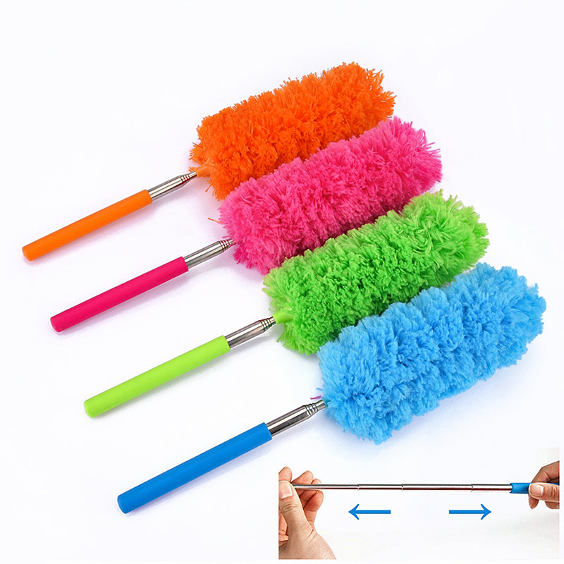 Adjustable Microfiber Duster Brush Stretch Extend Feather Duster Anti Dusting Brush Home Air-condition Car Furniture Cleaning