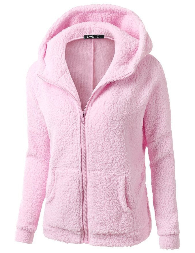 Winter Spring Women's Long Sleeve Fleece Hoodies Sweatshirts Jackets Fashion Casual Ladies Windproof Coats 20