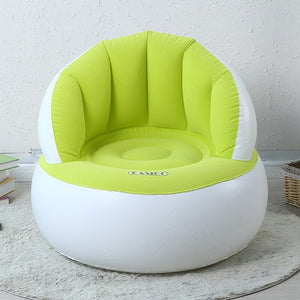 Flocking Inflatable Children's Sofa Foldable Portable Kid's Chair Creative Lazy