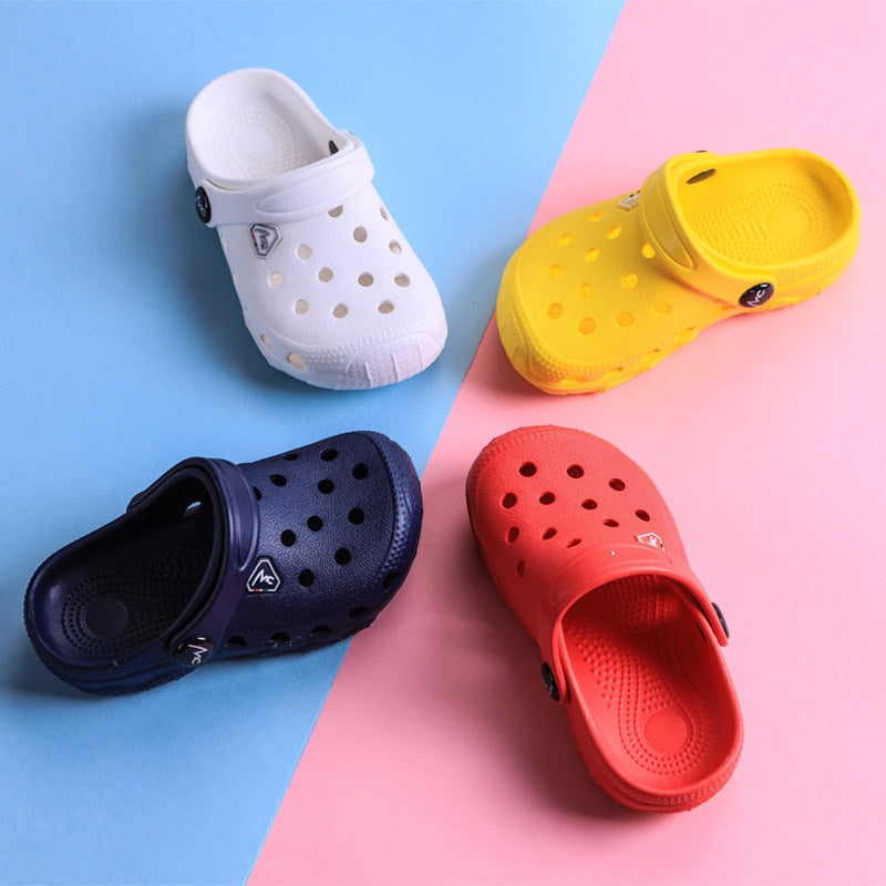 kids Mules & Clogs summer baby infant Toddler boys girls sandals flat  Solid slippers children garden shoes