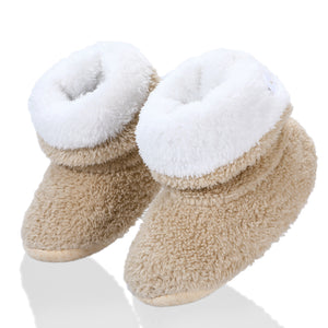 STONE VILLAGE solid back Button Girls Slippers Soft Warm Plush Kids Slippers 2-7Year Old Boys Slippers indoor home slippers