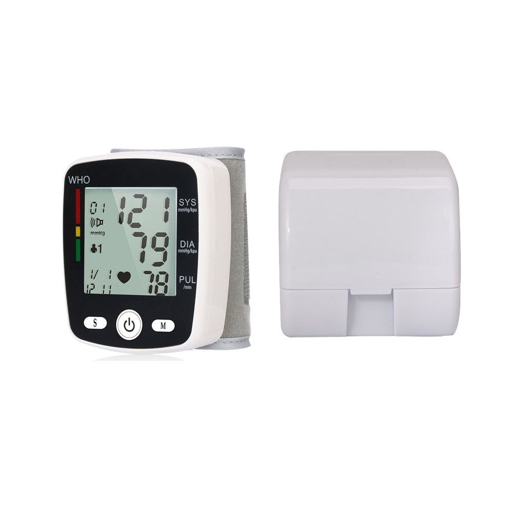 OLIECO Automatic Voice Wrist Digital Blood Pressure Monitor Tonometer Meter USB Charge Wrist OLI-W355 Germany Chip LCD Display