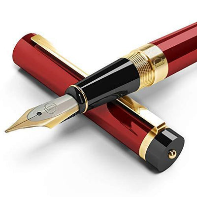 DRYDEN Luxury Fountain Pen with Ink Refill Converter - Smooth & Elegant, Perfect Gift Set for Calligraphy Writing