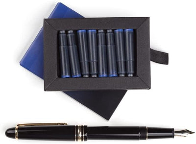 Fountain Pen Ink Cartridges - SET OF 24: 12 BLACK & 12 BLUE
