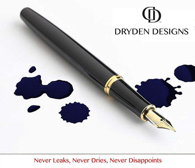 Dryden Fountain Pen Ink Cartridges - SET OF 24 BLUE INK CARTRIDGES