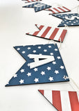 Stars And Stripes USA Wood Banner
