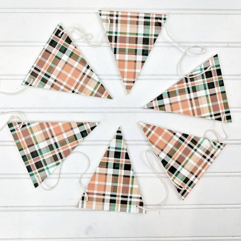Fall plaid Wood Banner