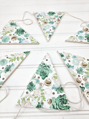 Succulents and Acorns Wood Banner