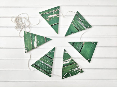 Farmhouse Christmas Wood Banner, Wood Banner, chippy Green Wood Banner, Christmas Banner