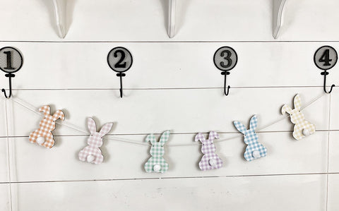 Pastel Wood Bunny Banner