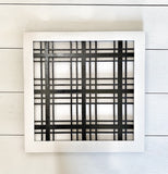 Plaid Farmhouse Laser Cut Sign , Farmhouse sign , Buffalo Plaid Sign