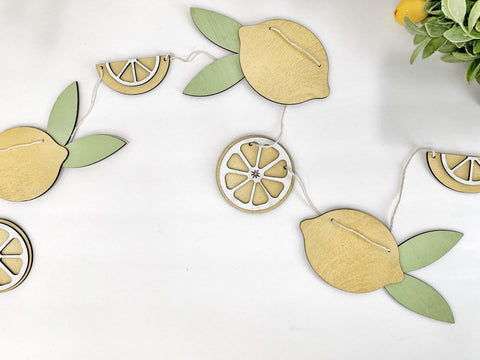 Lemon Slice Wood Banner , Lemon Banner , Wood Banner , Lemon Garland
