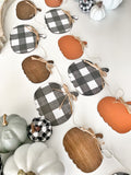 Buffalo Check Pumpkin Banner , Wood Banner , Pumpkin Banner , Pumpkin Garland , Buffalo Plaid Pumpkin Banner