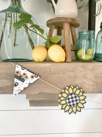 Sunflower Wood Banner