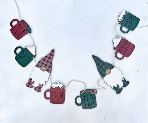 Christmas Coffee, Tea, Cocoa Gnome Banner
