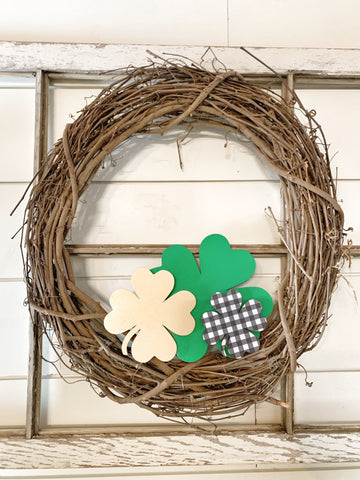 Wood Clovers Set of 3