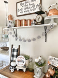 Mini Gingham Pumpkin Banner