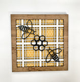 Bee Plaid Sign