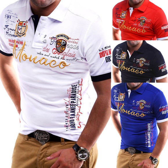 4 Colors Plus Size New Men's Polo Shirt Slim Fit Shirt Short Sleeve Polo
