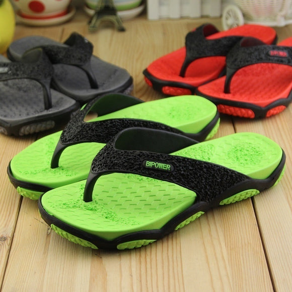 2017 Men's Sandals Casual Summer Slippers Shoes Wear Non Slip Beach Flip Flops for Men Plus Size 39-45EU