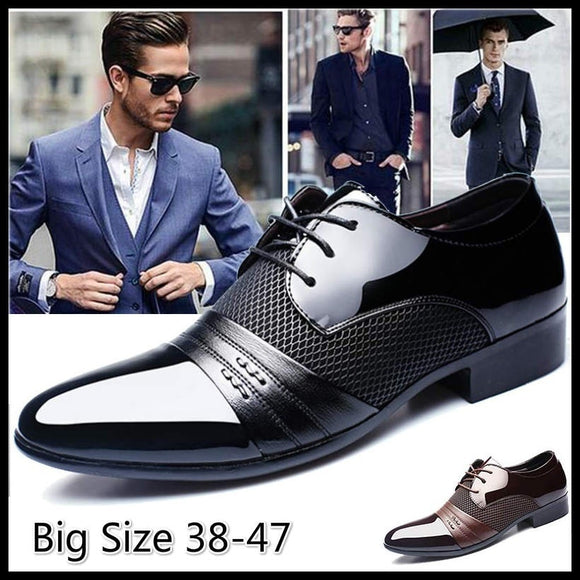 2017 Classical Men's Fashion Dress Flat Shoes Luxury Men's Business Oxfords Casual Shoes